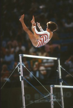 Mary Lou Retton is a retired American gymnast. At the 1984 Summer Olympics in Los Angeles, she won a gold medal in the individual all-around competition, as well as two silver medals and two bronze medals. These photos are from the 1984 LA Olympics.