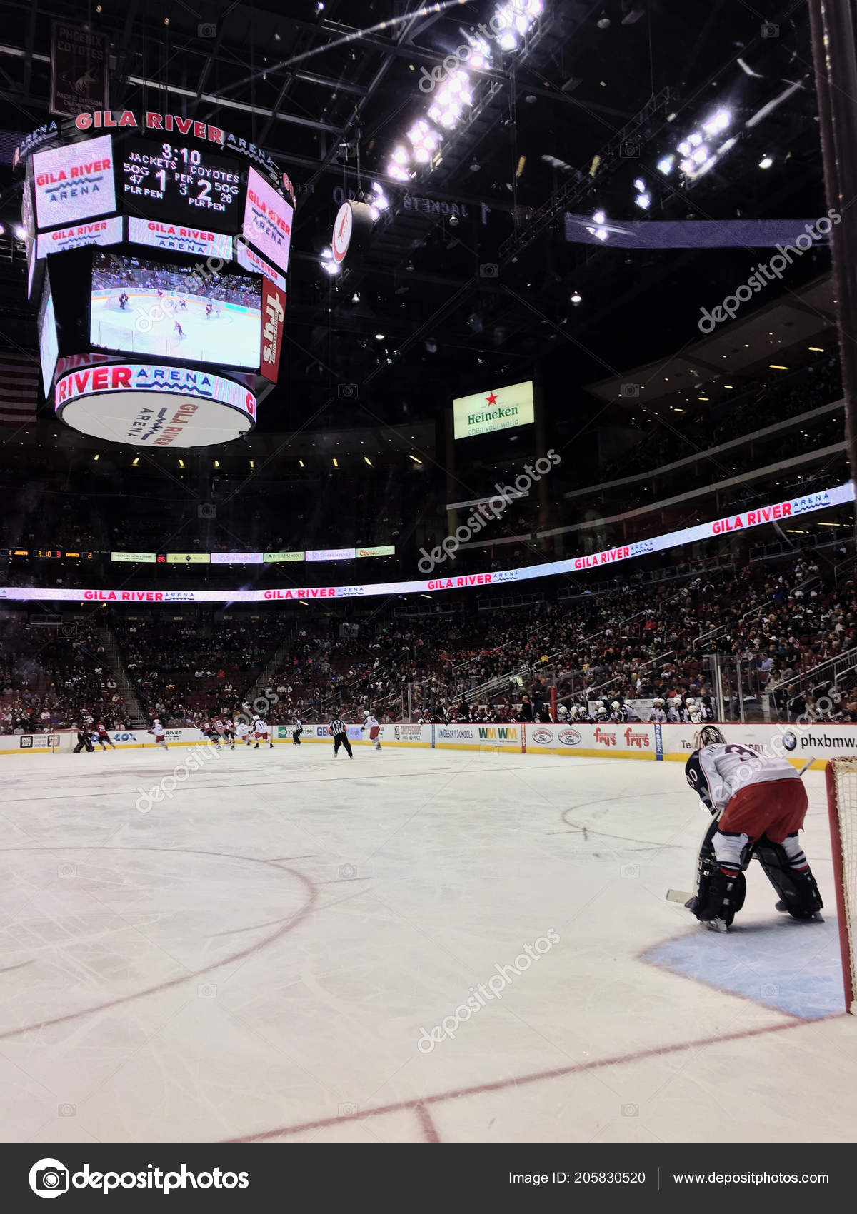 Gala River Arena Home Phoenix Coyotes Nhl Hockey Game Being Stock