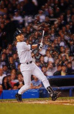 Derek Jeter Retired Shortstop for the New York Yankees at bat during a regular season Baseball game at Yankees Stadium.