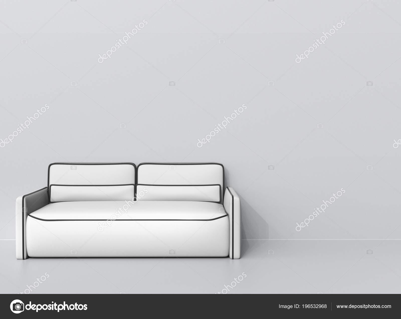 Modern White Leather Sofa Black Outlines Stock Photo C Trimitrius 196532968