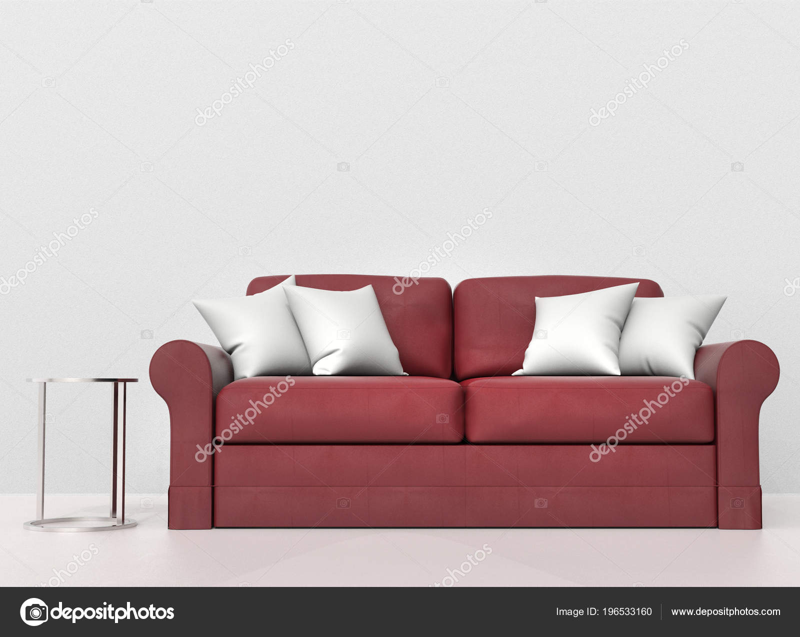 Phenomenal Red Leather Sofa White Pillows Metal End Table Side Stock Machost Co Dining Chair Design Ideas Machostcouk