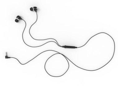 Modern default black headphones