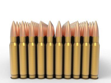 One hundred high calibre bullets stock vector