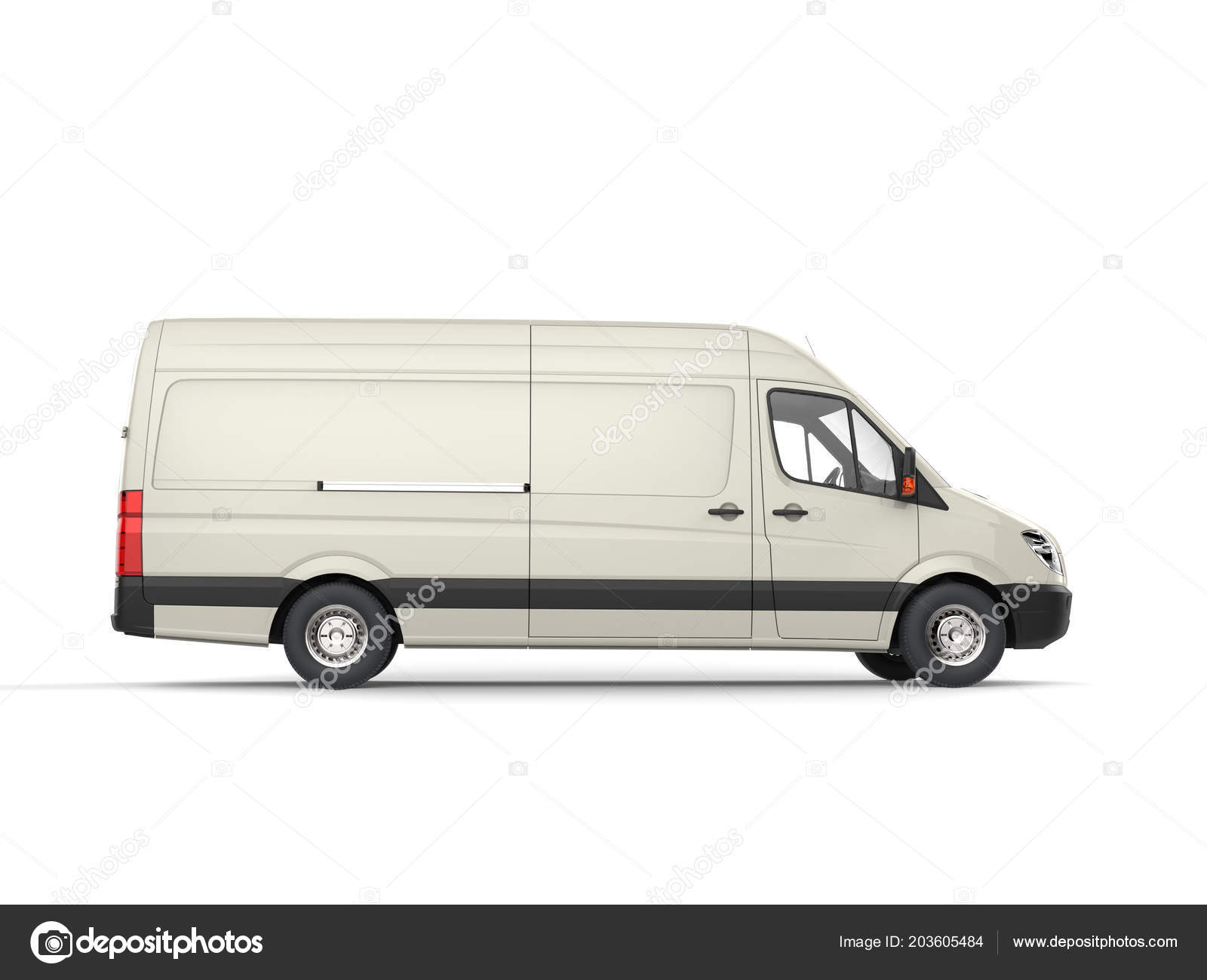 ae63dd85e4 Cream White Modern Delivery Van Side View — Stock Photo © Trimitrius ...