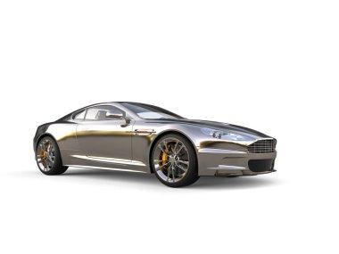 Chrome plated modern luxury sports car