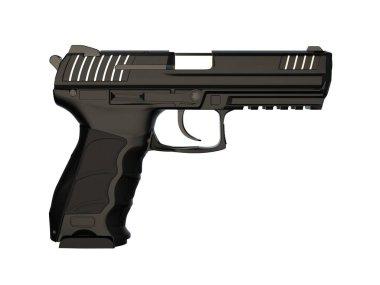 Semi automatic modern handgun stock vector