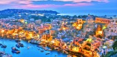 Photo Architecture of Procida Island, a comune of the Metropolitan City of Naples, Campania, Italy.