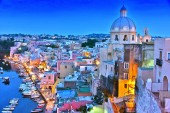 Photo Architecture of Procida Island, a comune of the Metropolitan City of Naples, Campania, Italy.
