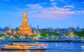 Fotografie Wat Arun Ratchawararam, buddhistický chrám v Bangkoku, Thajsko