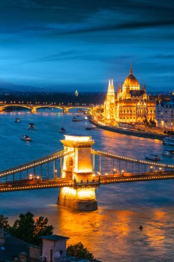 View of Budapest by night