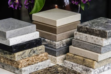 Kitchen Countertops made from granite, marble and quartz natural stone