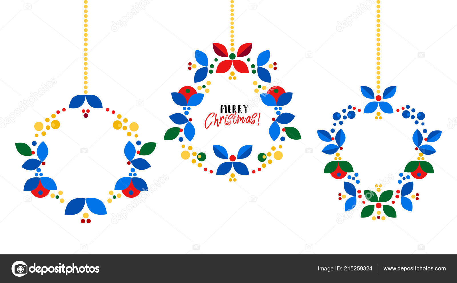 merry christmas happy new year card design abstract flat xmas stock vector