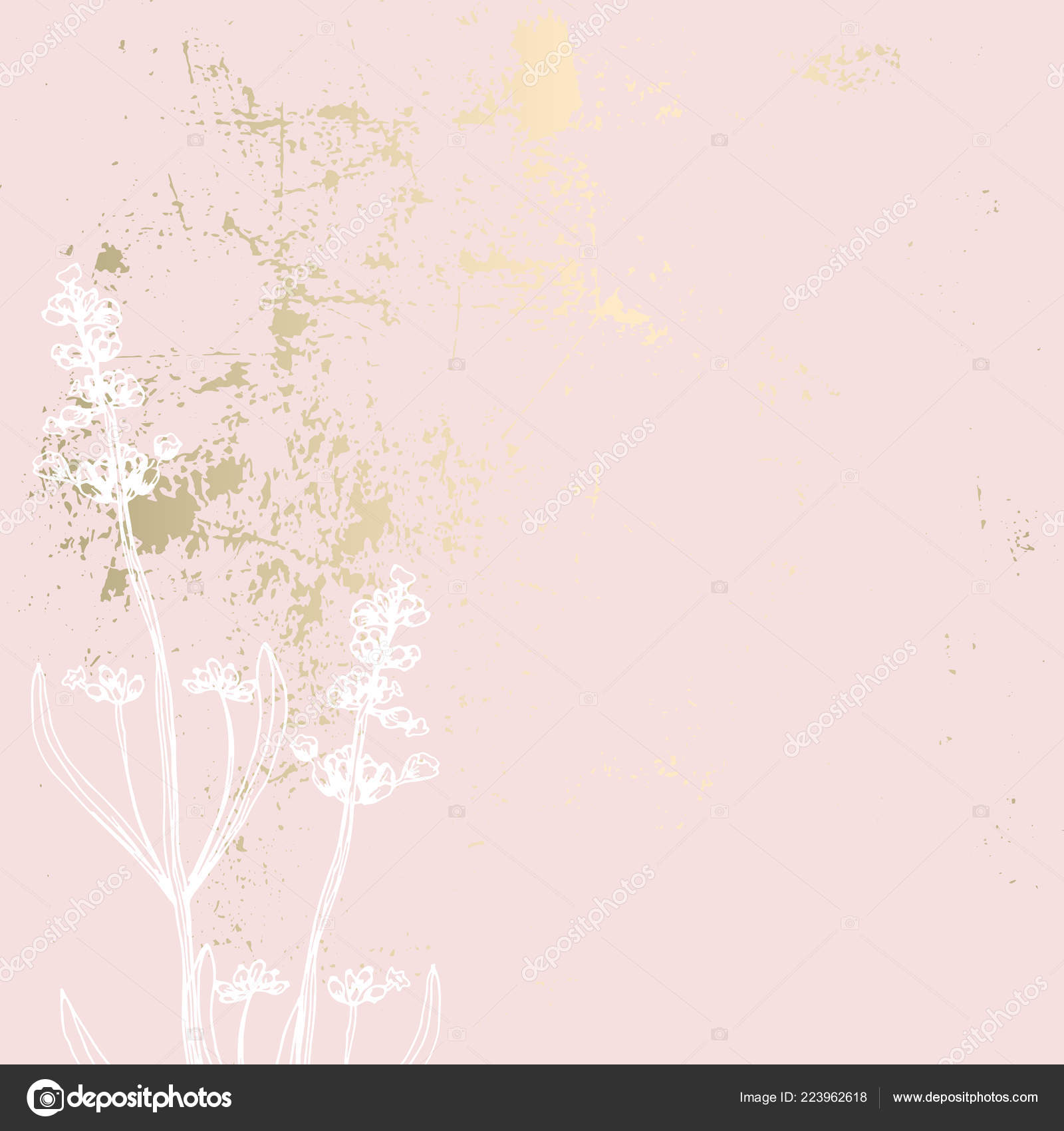 Trendy Elegant Pastel Blush Pink Gold Texture Backdrop