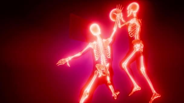 Basketballspieler mit sichtbaren Knochen