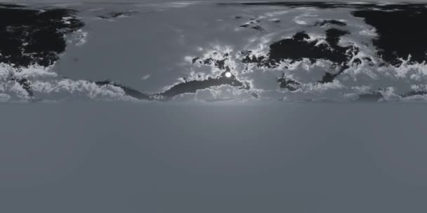 VR 360 degree Panoramic Sky and Clouds with Moon at Night