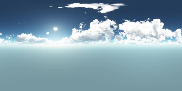 VR-360 fokos panoráma ég és a felhők. 3D-s környezetben használatra kész