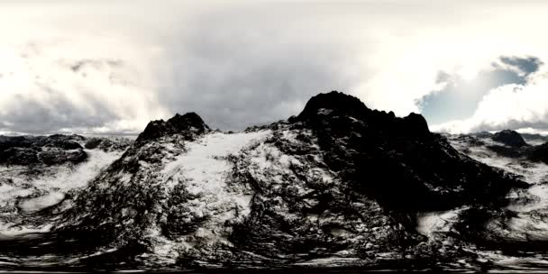 légi vr 360 panoráma a hegyek. a lencse egy 360 fokos kamerával készült