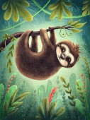 Fotografia Illustration with a cute sloth