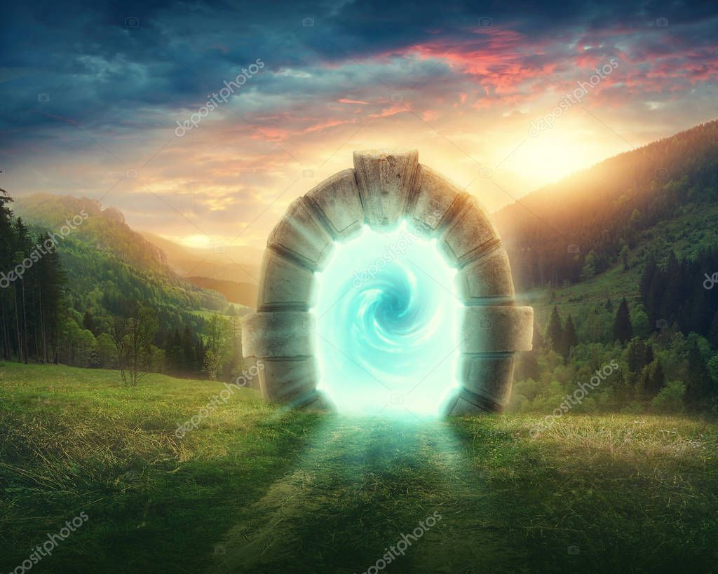 Фотообои   Mysterious entrance to new life or beginning