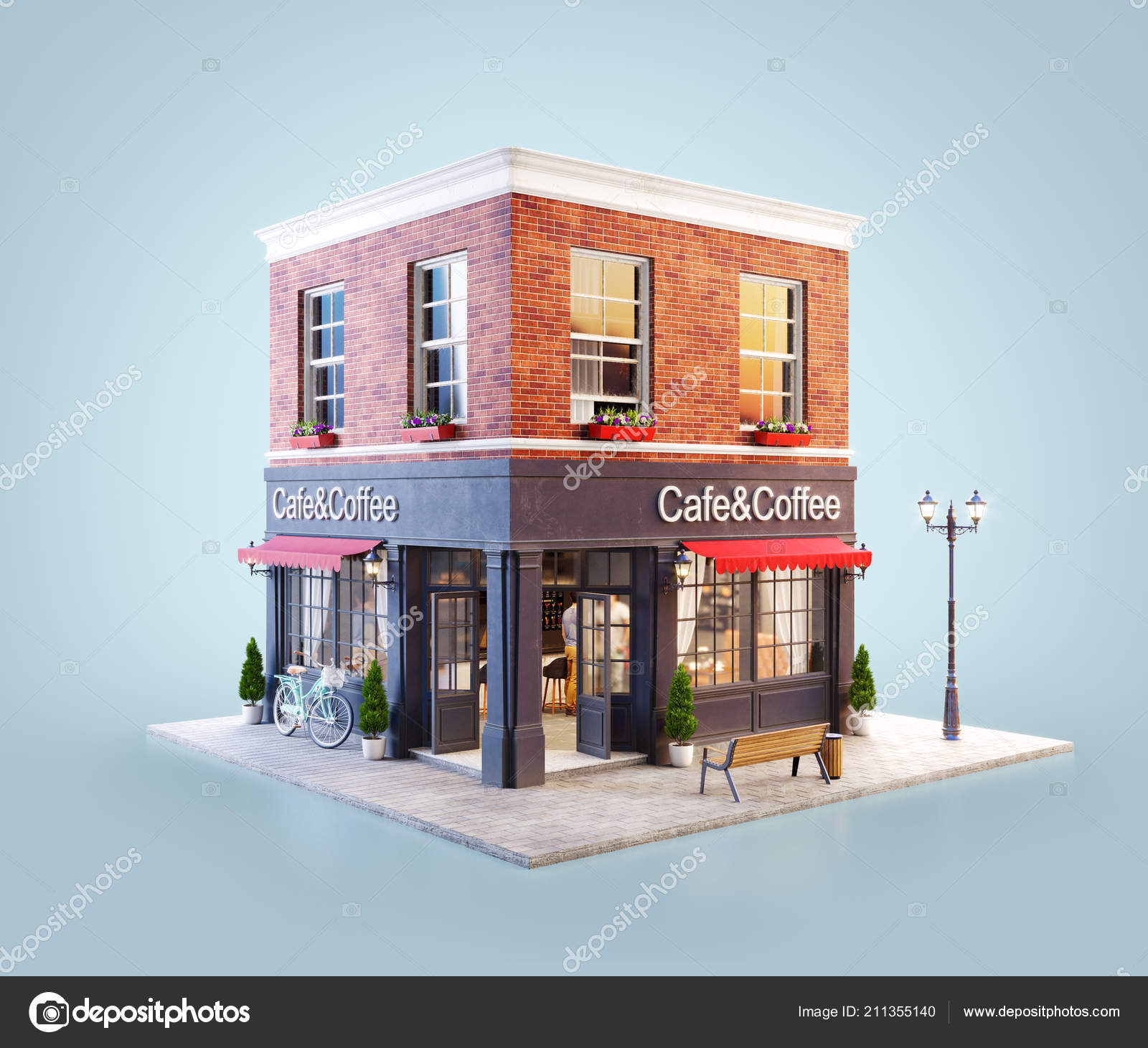 ᐈ Coffee Shop Exterior Stock Images Royalty Free Modern Coffee Shop Exterior Photos Download On Depositphotos