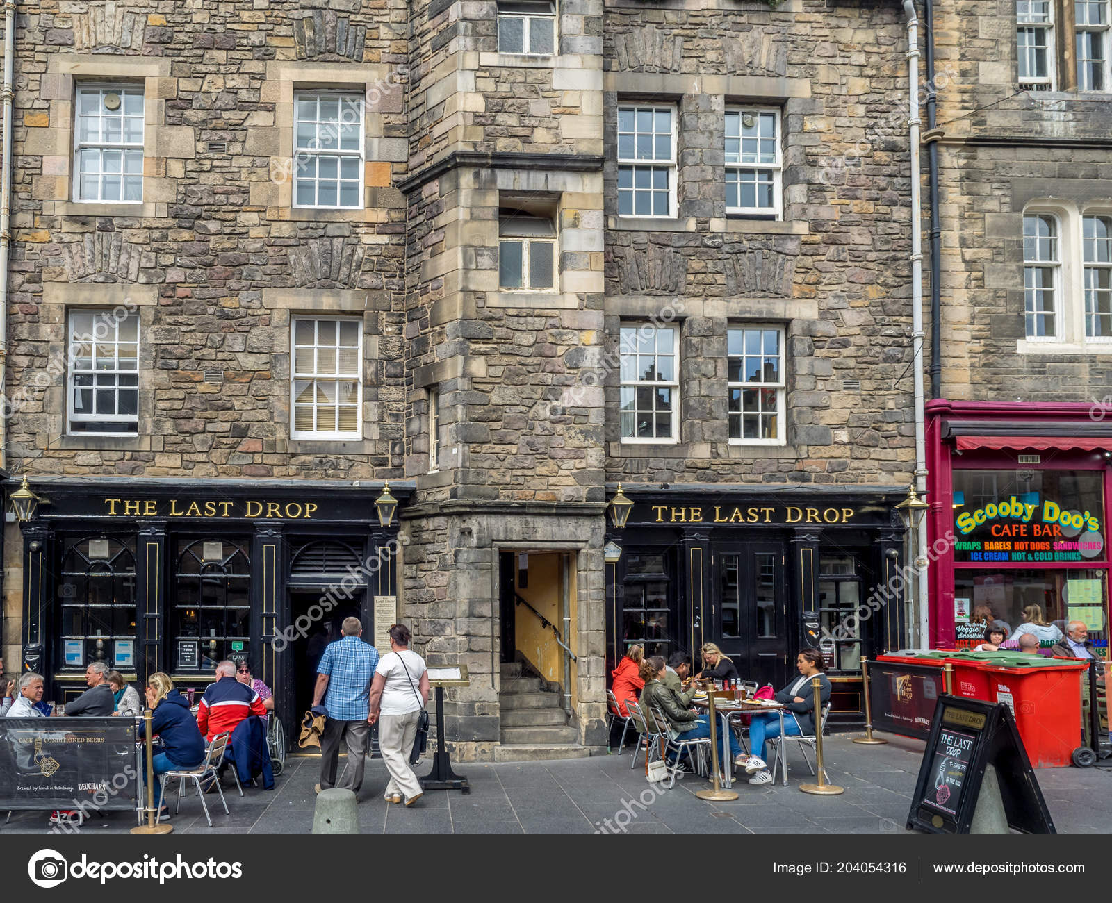Edinburgh Scotland July Buildings Shops Famous Grassmarket