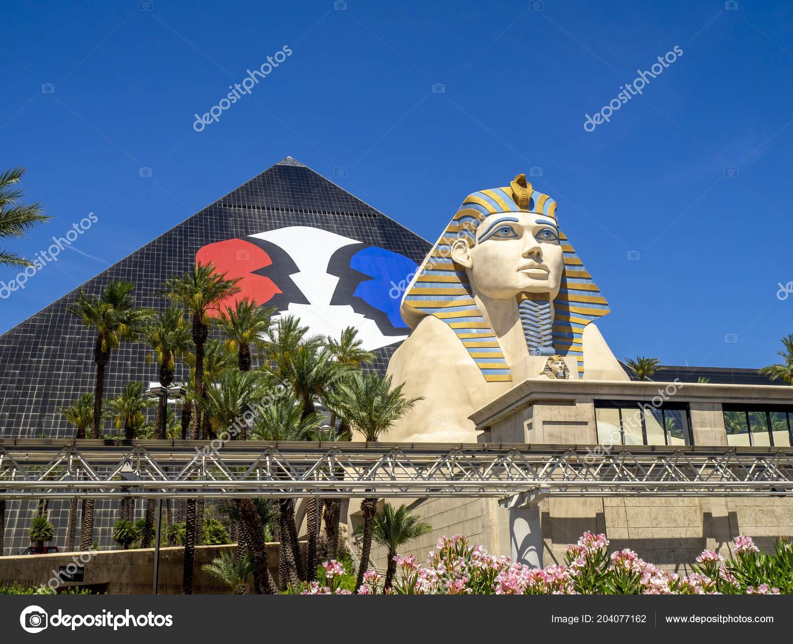 Las Vegas Nevada Usa Statue Sphinx Famous Luxor Hotel Las Stock