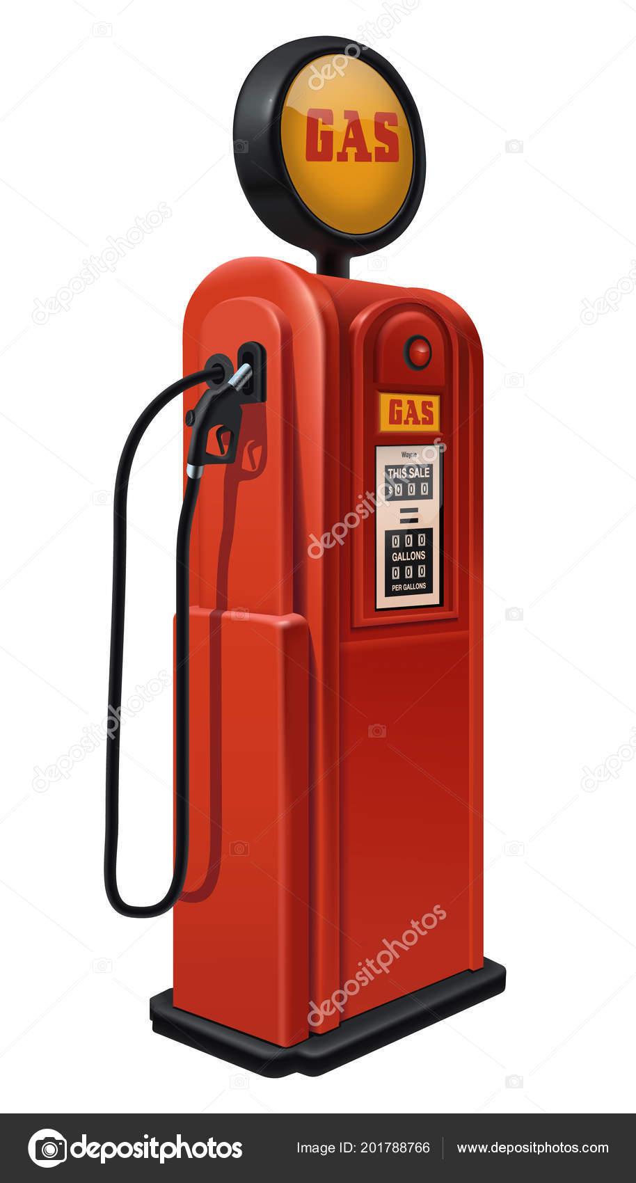 Vintage gas pump  — Stock Vector © Kasyanov-creation #201788766