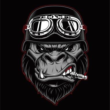 Gorilla biker mascot.