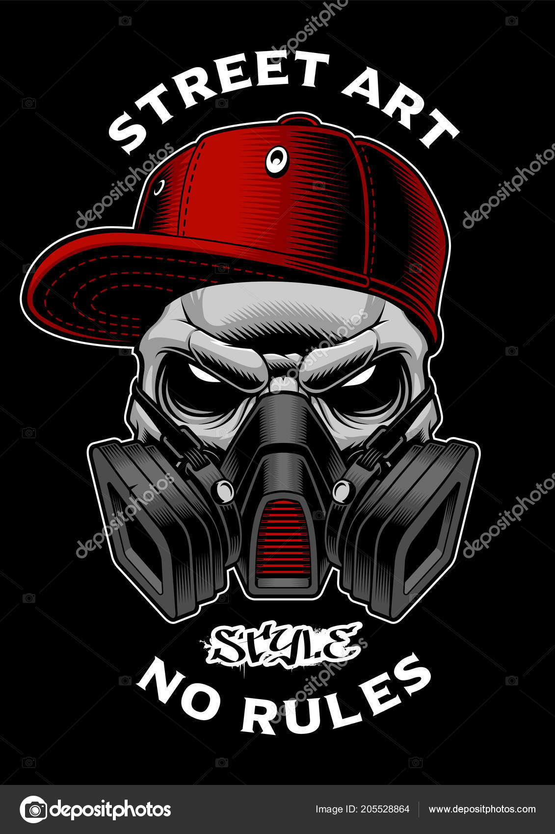 Drawings Graffiti Characters Gas Mask Graffiti Skull With
