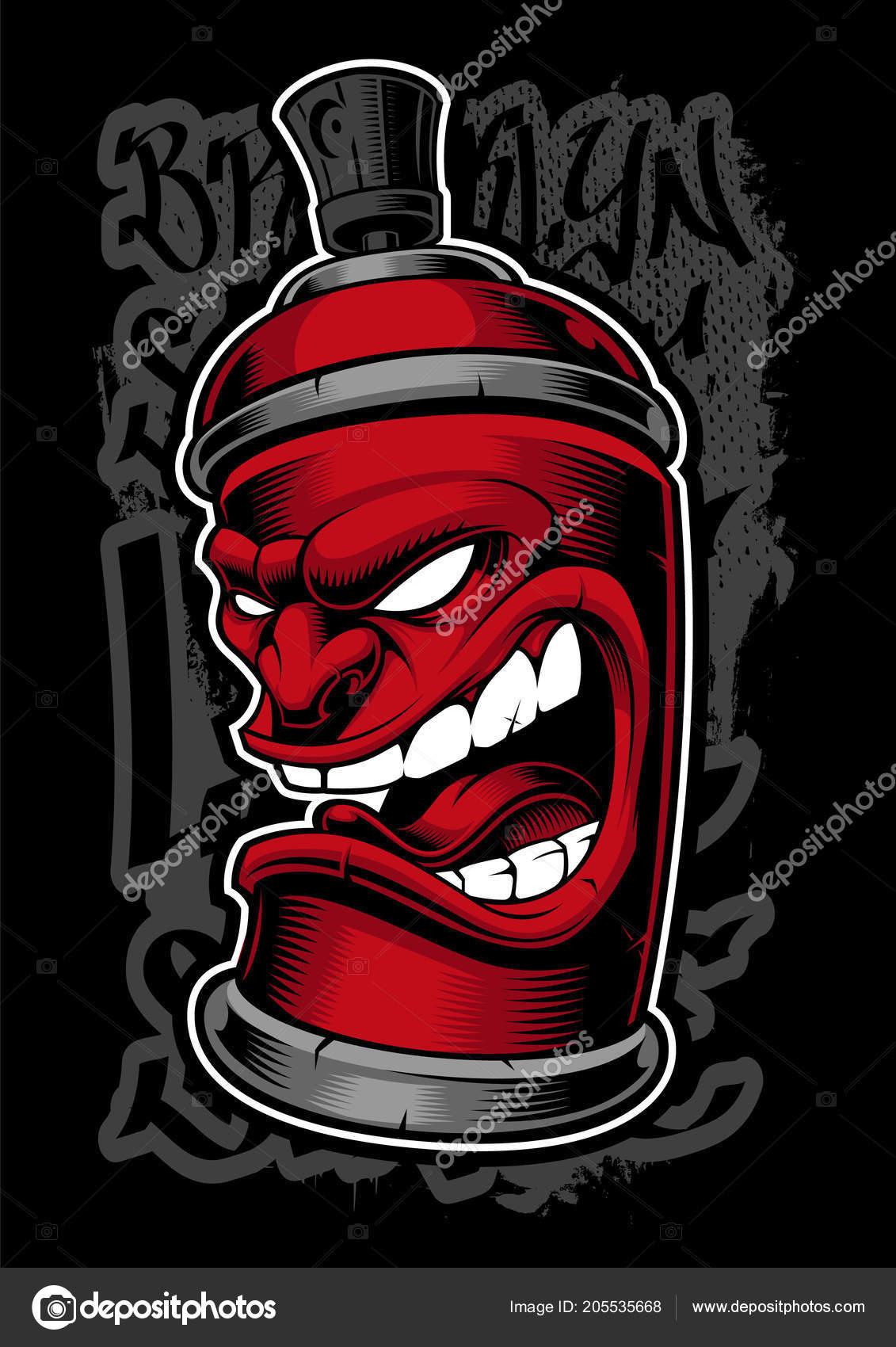 graffiti spray monster stock vector kasyanov creation 205535668