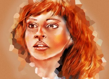 Abstract portrait of Hermione Granger