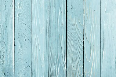 Top view of light blue wooden background with vertical planks stock vector