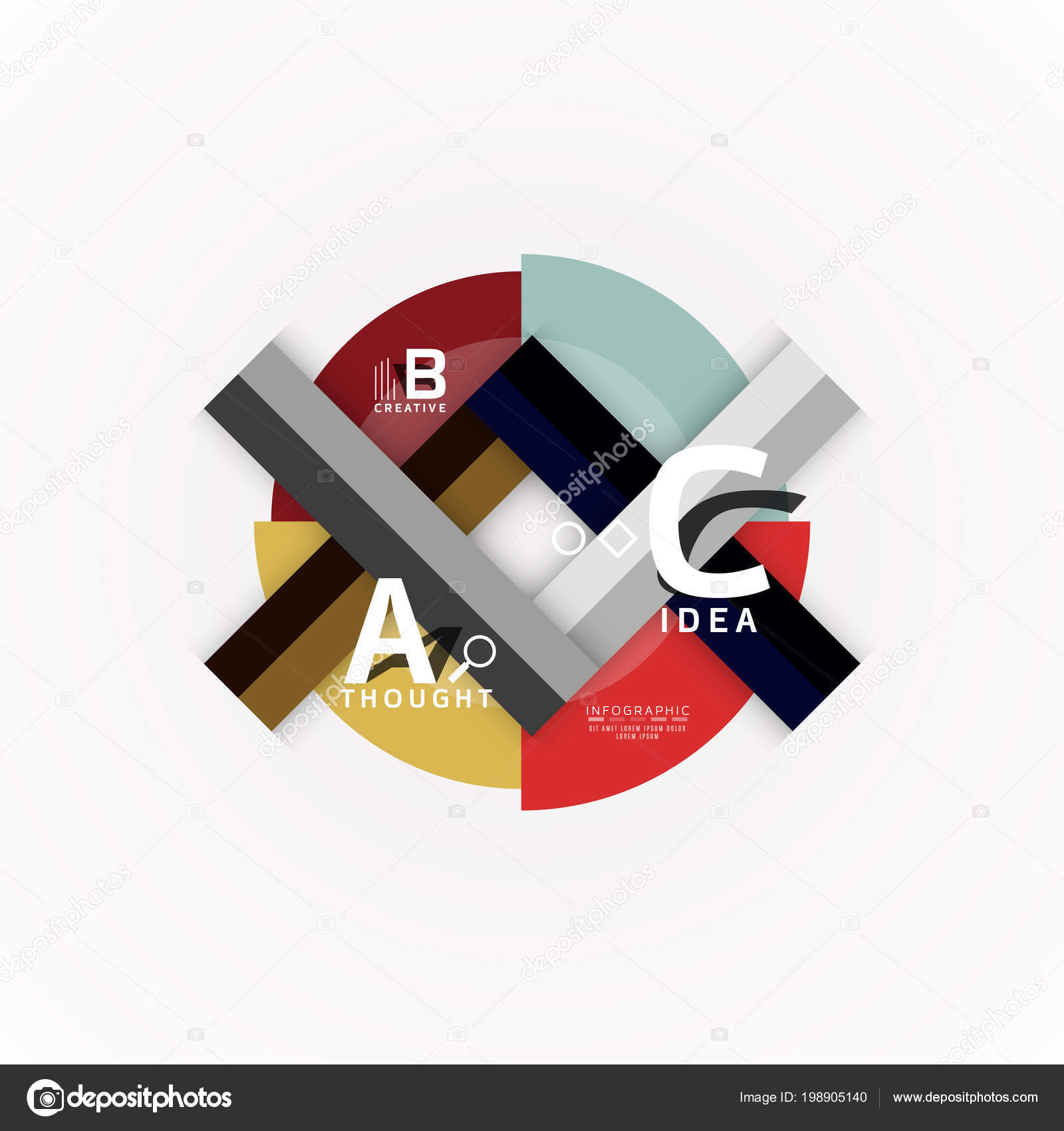 Vector Infographic Options Banner, Paper Style Design Stock Vector