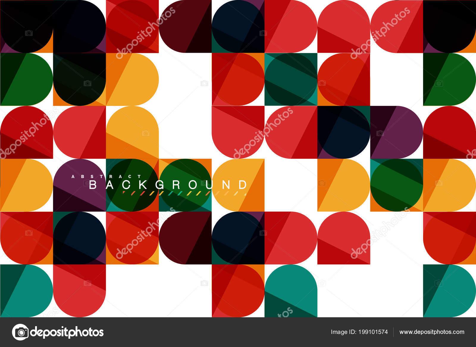 Forme geometriche squadrate su bianco arrotondate piastrelle