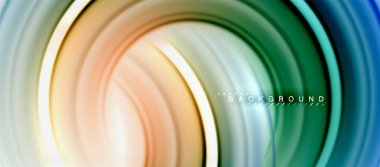Rainbow fluid color line abstract background - swirl and circles, twisted liquid colours design, colorful marble or plastic wavy texture backdrop, multicolored template for business or technology