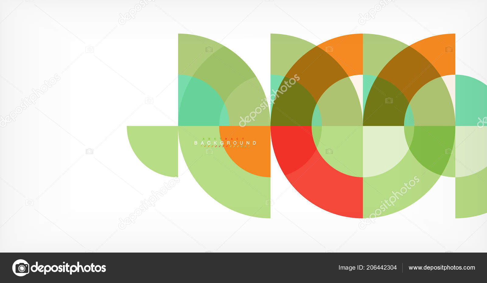 minimal circle abstract background design multicolored template for
