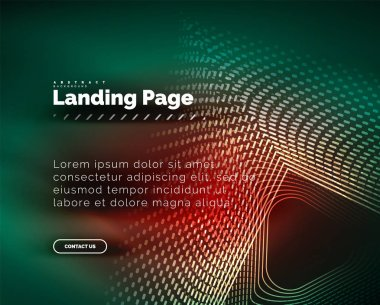 Neon glowing background for landing page