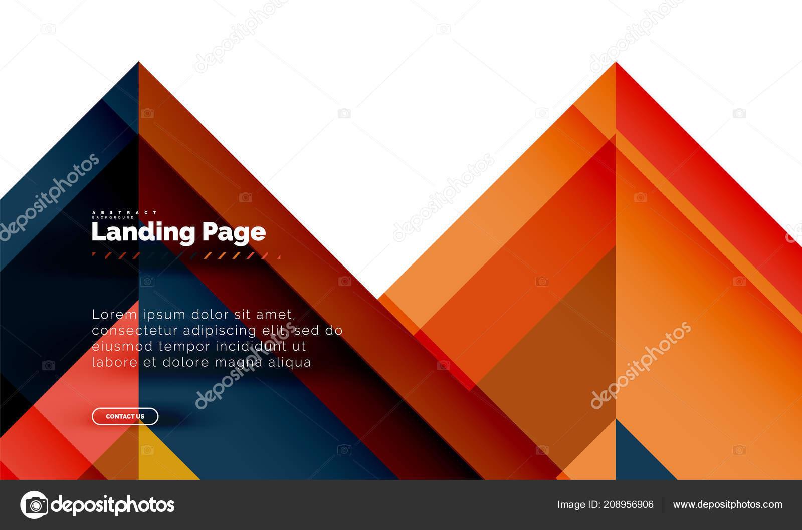 Cuadrado Fondo Abstracto Geométrico Forma Plantilla Diseño Página ...