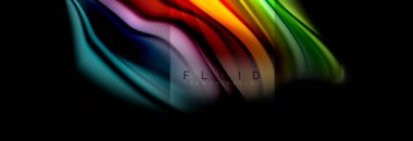 Rainbow fluid abstract shapes, liquid colors design, colorful marble or plastic wavy texture background, multicolored template for business or technology presentation or web brochure cover design