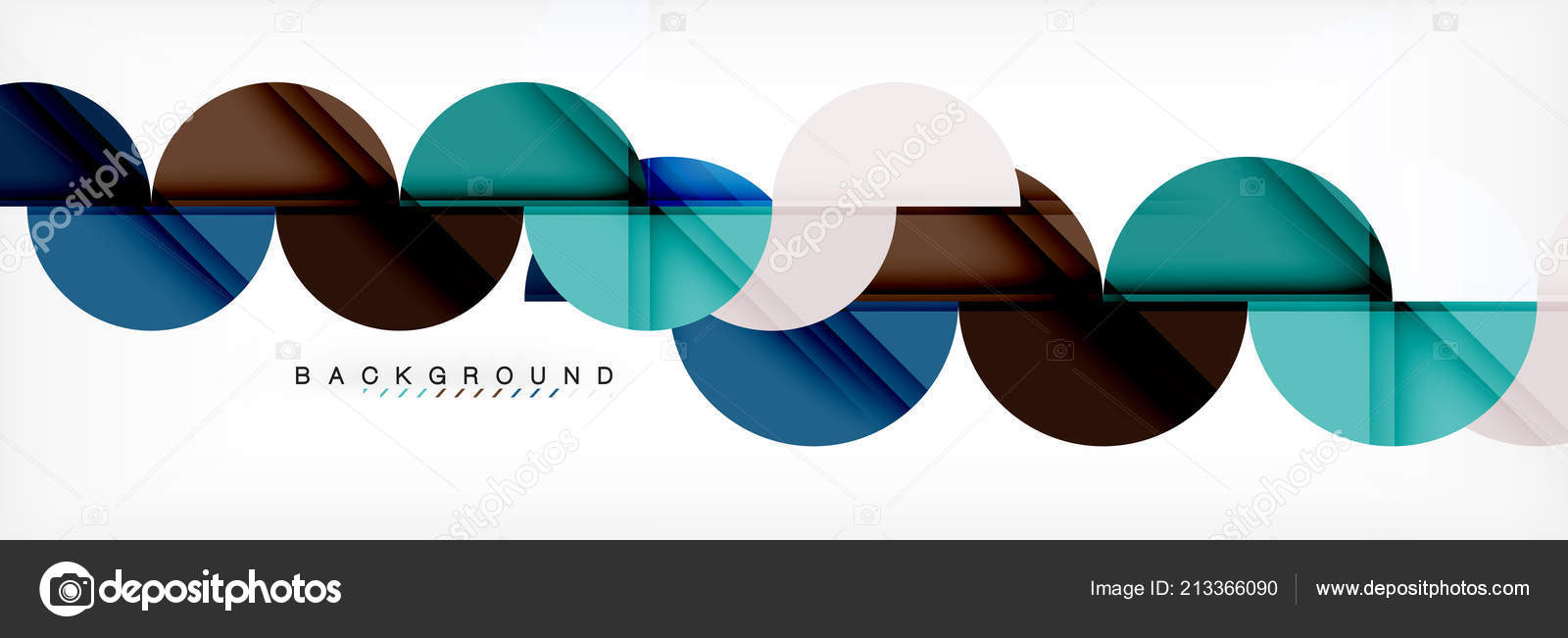 modern geometrical abstract background circles business or