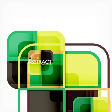 Abstract background, square shapes geometric composition