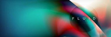 """Картина, постер, плакат, фотообои """"Абстрактные голографической жидкости цвета фона волна дизайн"""", артикул 224305814"""