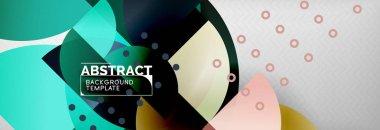 """Картина, постер, плакат, фотообои """"векторный круг абстрактный геометрический фон, композиция круглых цветов на сером абстракция"""", артикул 239521936"""