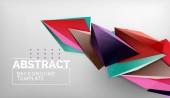 3D geometrische dreieckige Formen abstrakten Hintergrund, Farbdreiecke Komposition auf grauem Hintergrund, Business-oder hallo-tech-konzeptionelle Tapete