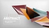 abstrakte Farbdreiecke geometrischer Hintergrund. Mosaik dreieckig Low-Poly-Stil