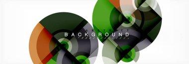 Circular vector abstract background