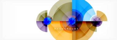 Geometric circle abstract background, creative geometric wallpaper.