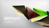 3D-Dreieck geometrisches Hintergrunddesign, moderne Plakatvorlage