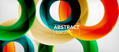 Vector circles abstract background