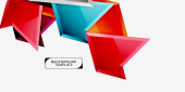 Minimální geometrické trojúhelníky s abstraktním pozadím 3D efektu